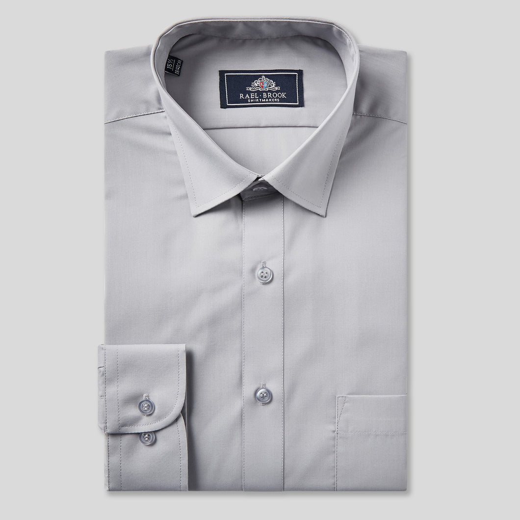 Rael Brook Classic Fit Grey Single Cuff Shirt