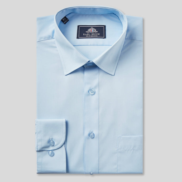 Rael Brook Classic Fit Sky Blue Single Cuff Shirt