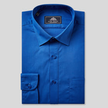 Load image into Gallery viewer, Rael Brook Classic Fit Royal Single Cuff Shirt