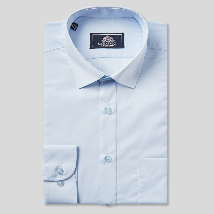 Rael Brook Classic Fit Light Blue Single Cuff Shirt