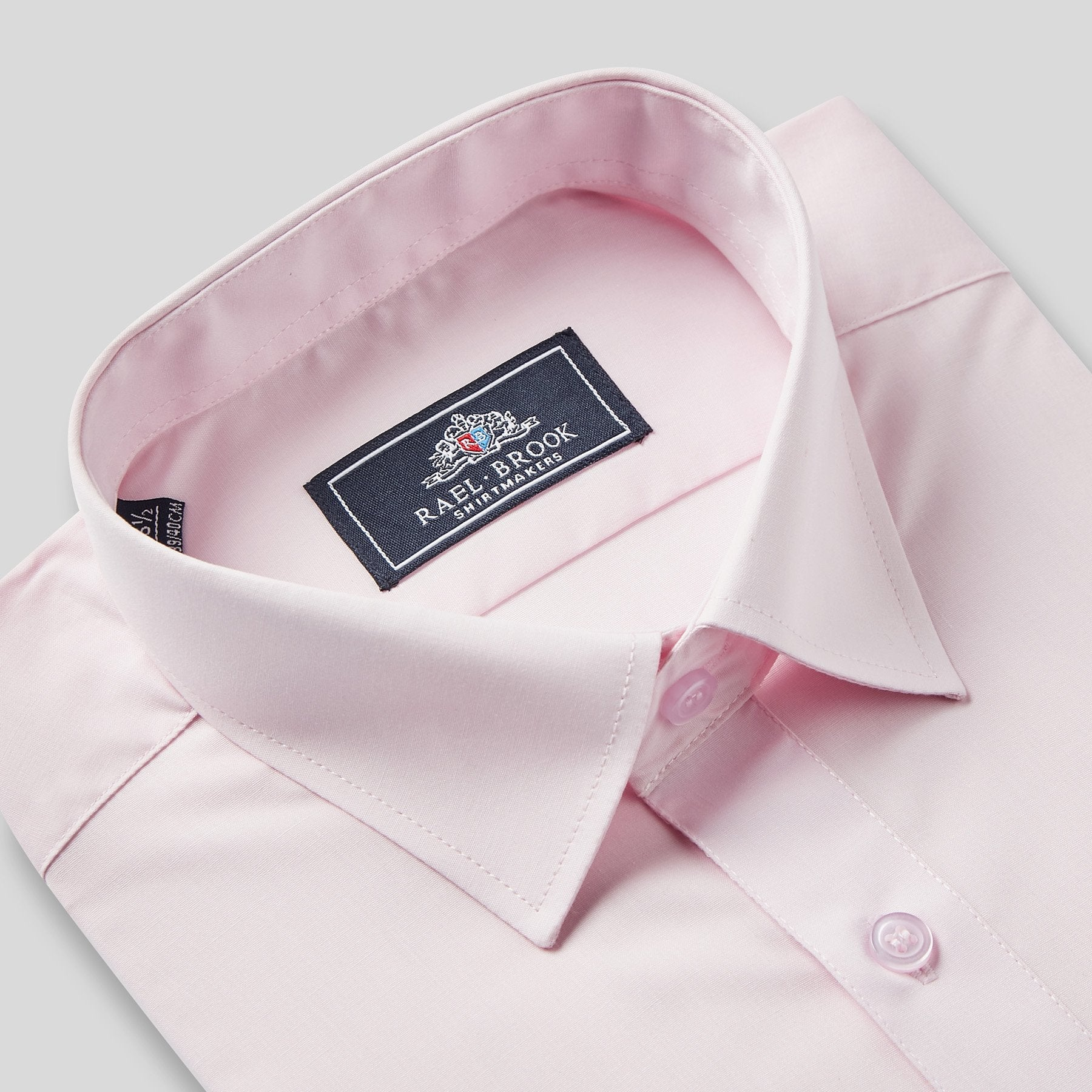 Rael Brook Classic Fit Pink Single Cuff Shirt Collar