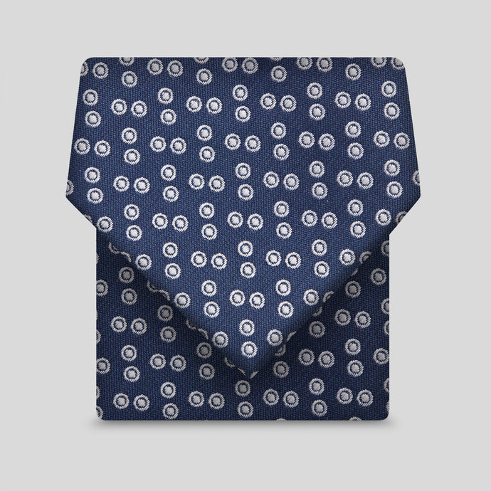 Navy With Baby Pink Circumpunct Classic Tie