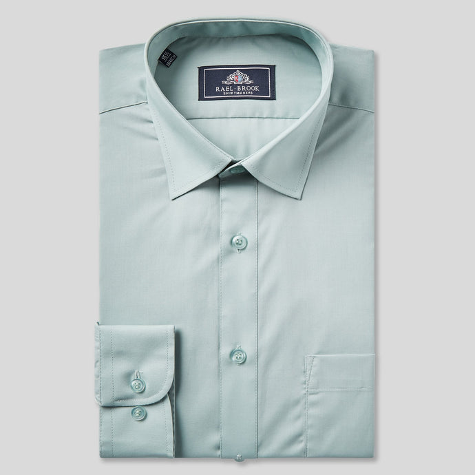 Rael Brook Classic Fit Green Single Cuff Shirt