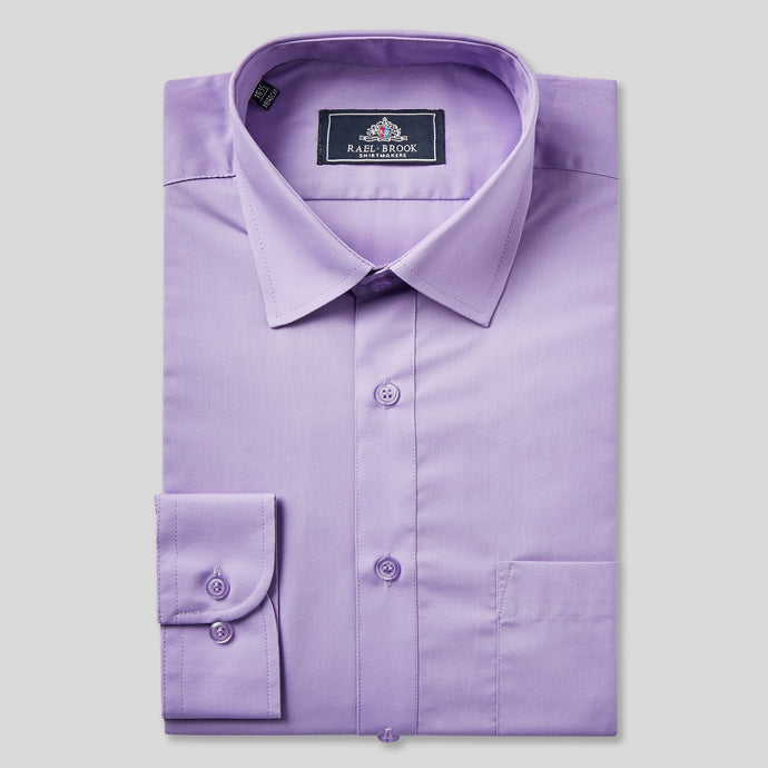 Rael Brook Classic Fit Purple Single Cuff Shirt