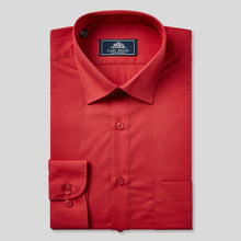 Load image into Gallery viewer, Rael Brook Classic Fit Red Single Cuff Shirt