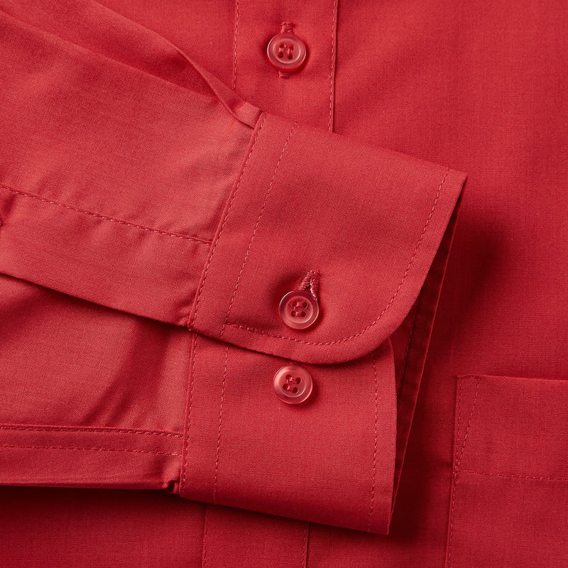 Rael Brook Classic Fit Red Single Cuff Shirt Cuff
