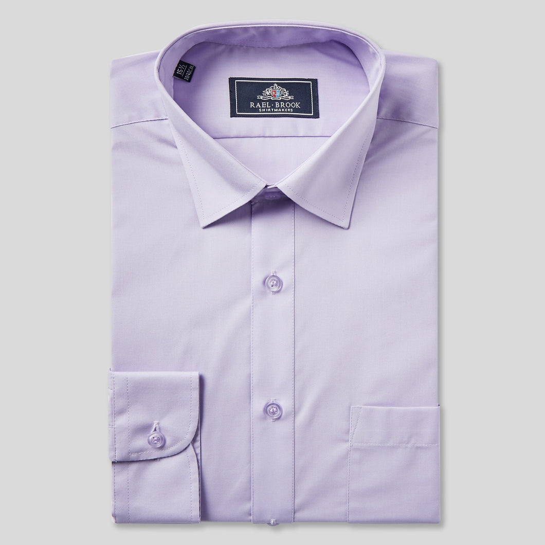Rael Brook Classic Fit Lilac Single Cuff Shirt