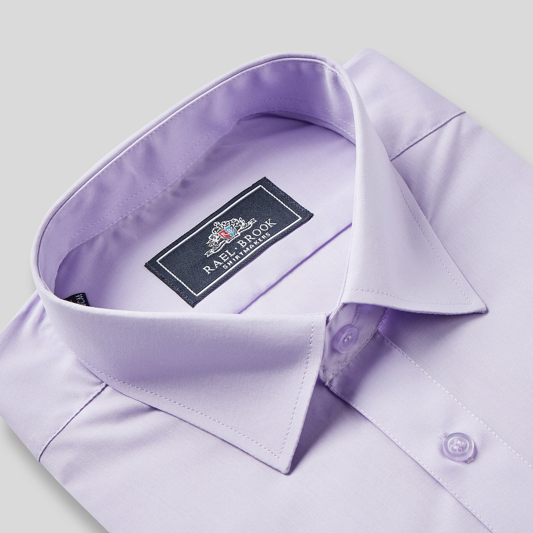 Rael Brook Classic Fit Lilac Single Cuff Shirt Collar