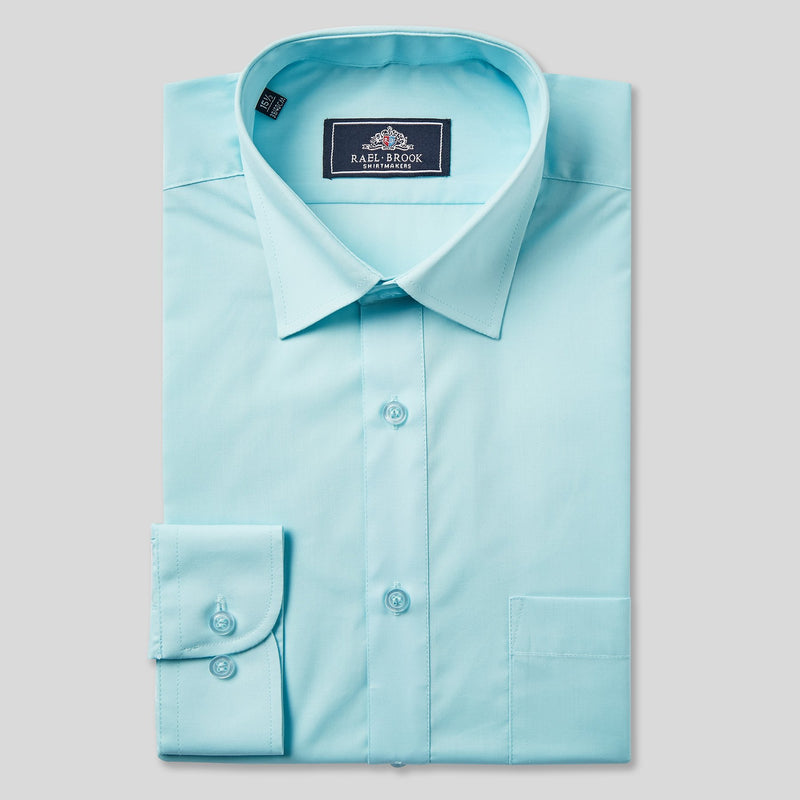 Rael Brook Classic Fit Cyan Single Cuff Shirt