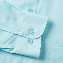 Load image into Gallery viewer, Rael Brook Classic Fit Cyan Single Cuff Shirt Cuff