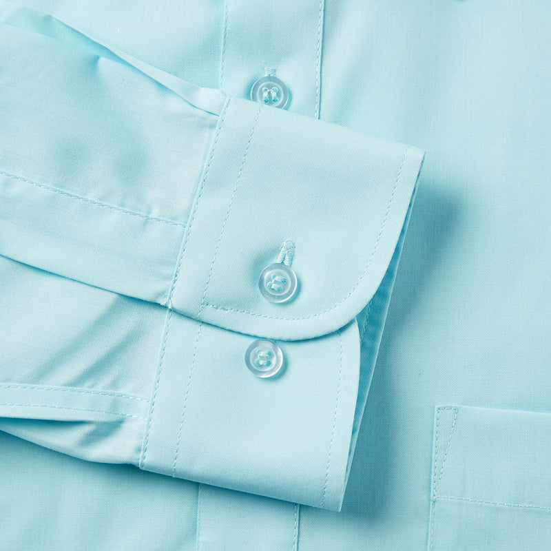 Rael Brook Classic Fit Cyan Single Cuff Shirt Cuff