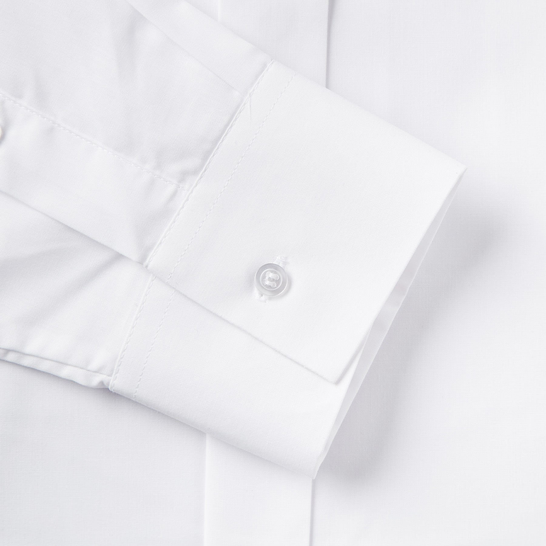 Rael Brook Classic Fit White Extra Long Sleeve Wing Collar Dress Shirt Cuff