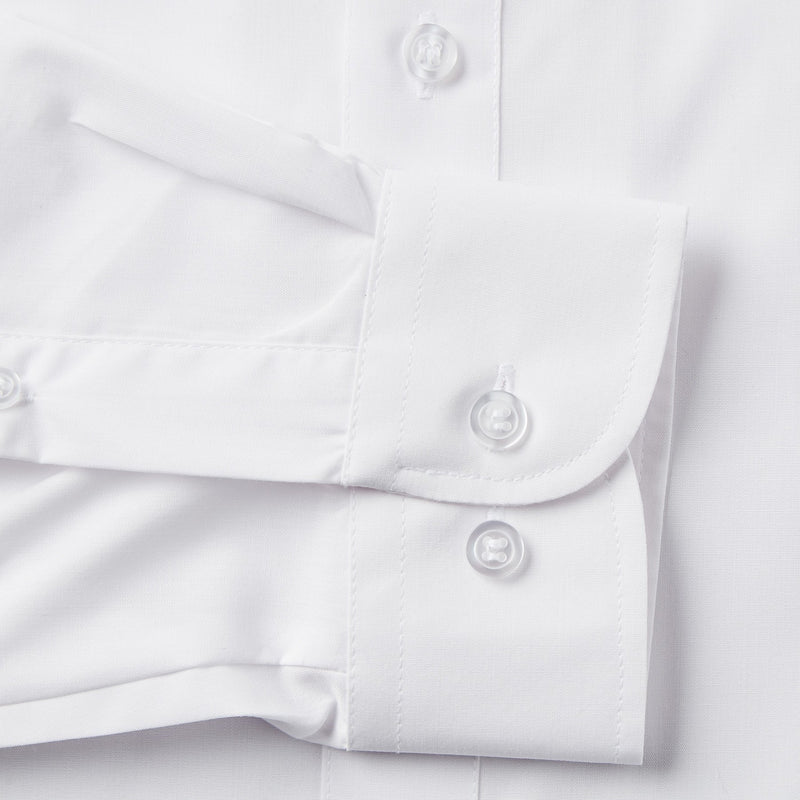 Rael Brook Tailored Fit White Single Cuff Shirt Cuff