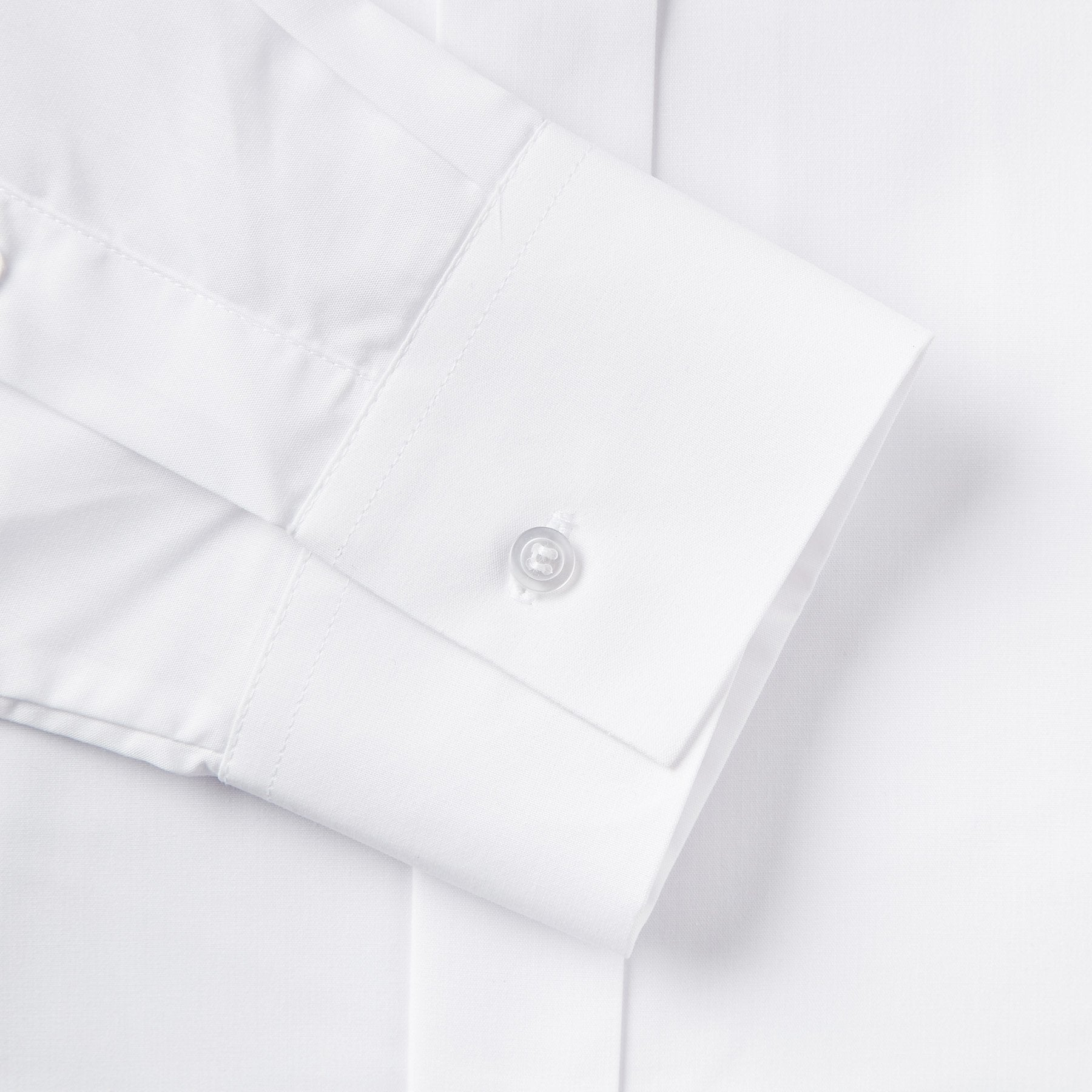Rael Brook Tailored Fit White Wing Collar Dress Shirt Cuff