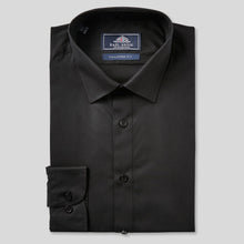 Load image into Gallery viewer, 8432-Rael-Brook-Tailored-Fit-Black-Single-Cuff-Shirt-1