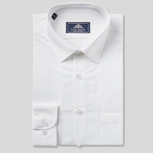 Load image into Gallery viewer, Rael Brook Classic Fit White On White Satin Single Cuff Shirt