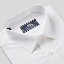 Load image into Gallery viewer, Rael Brook Classic Fit White On White Satin Single Cuff Shirt Collar