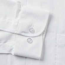 Load image into Gallery viewer, Rael Brook Classic Fit White On White Satin Single Cuff Shirt Cuff