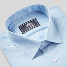 Load image into Gallery viewer, Rael Brook Classic Fit Blue On Blue Satin Single Cuff Shirt Collar