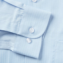 Load image into Gallery viewer, Rael Brook Classic Fit Blue On Blue Satin Single Cuff Shirt Cuff