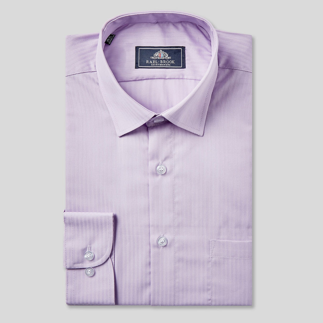 Rael Brook Classic Fit Purple On Purple Satin Single Cuff Shirt