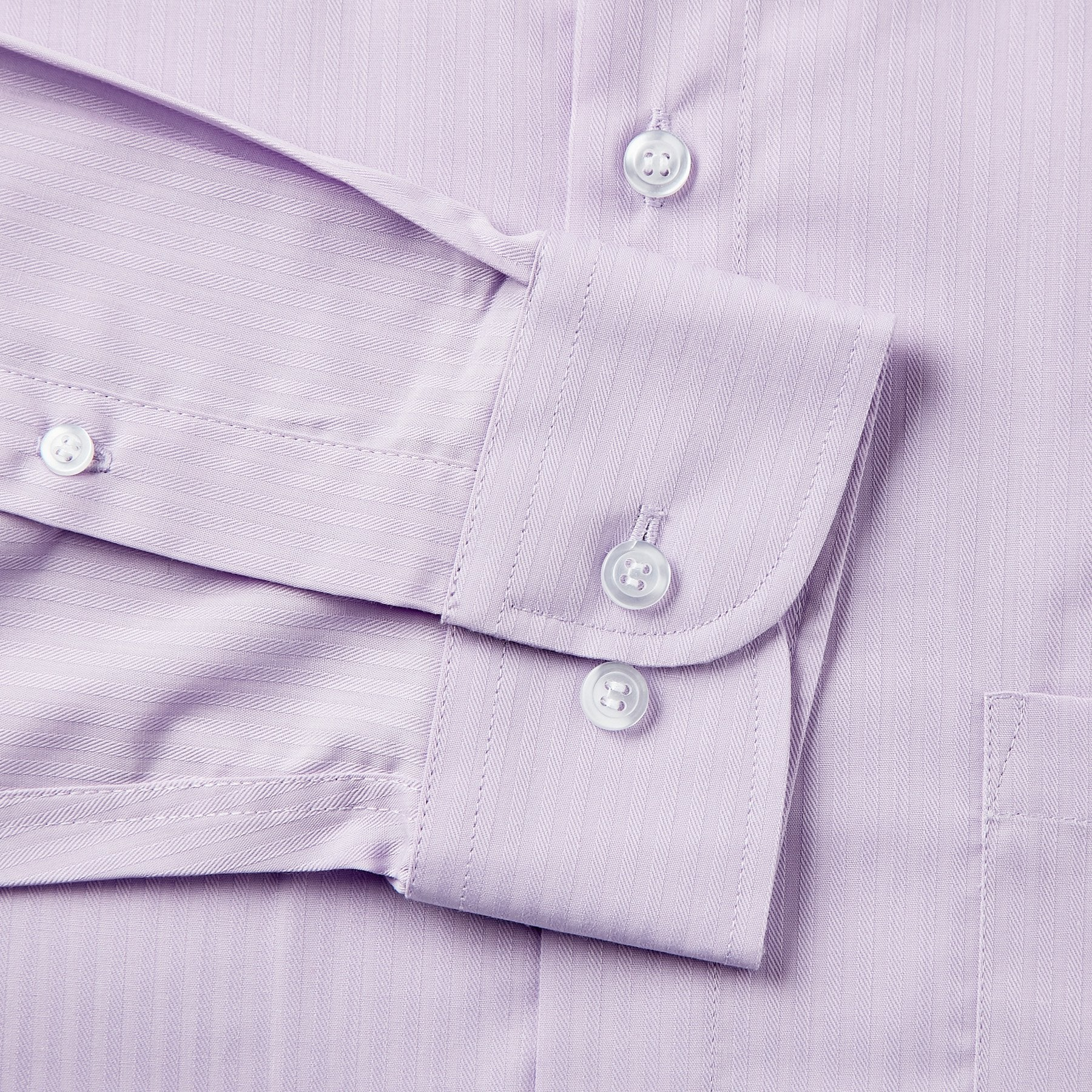 Rael Brook Classic Fit Purple On Purple Satin Single Cuff Shirt Cuff