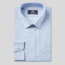 Load image into Gallery viewer, 9031-Rael-Brook-Classic-Fit-Blue-Pinstripe-Single-Cuff-Shirt-1