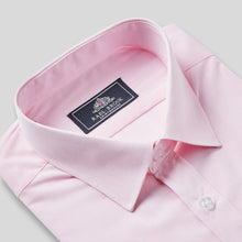 Load image into Gallery viewer, Rael Brook Classic Fit Pink Pinstripe Single Cuff Shirt Collar