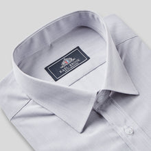 Load image into Gallery viewer, Rael Brook Classic Fit Grey Pinstripe Single Cuff Shirt Collar