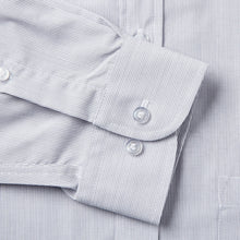 Load image into Gallery viewer, Rael Brook Classic Fit Grey Pinstripe Single Cuff Shirt Cuff