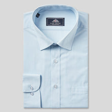 Load image into Gallery viewer, 9034-Rael-Brook-Classic-Fit-Light-Blue-Pinstripe-Single-Cuff-Shirt-1