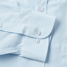 Load image into Gallery viewer, 9034-Rael-Brook-Classic-Fit-Light-Blue-Pinstripe-Single-Cuff-Shirt-3