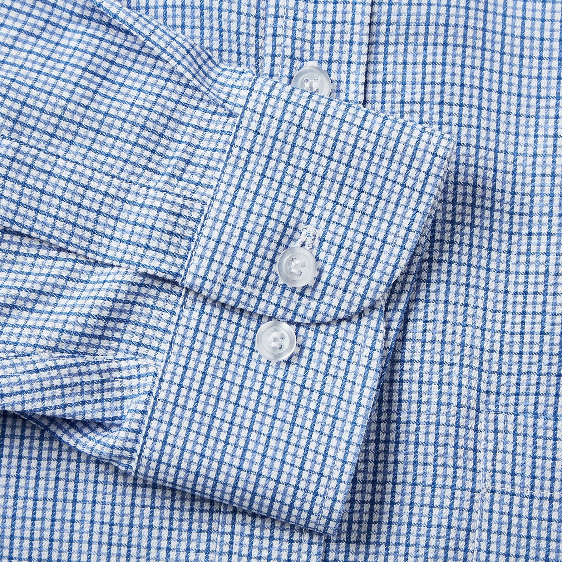 9041-Rael-Brook-Classic-Fit-Blue-Micro-Check-Single-Cuff-Shirt-3
