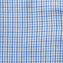 Load image into Gallery viewer, Rael Brook Classic Fit Blue Micro Check Single Cuff Shirt Fabric