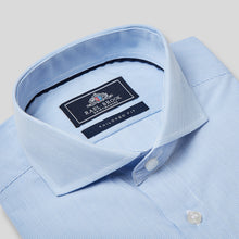Load image into Gallery viewer, Rael Brook Tailored Fit Blue Pinstripe Single Cuff Shirt Collar