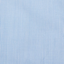 Load image into Gallery viewer, Rael Brook Tailored Fit Blue Pinstripe Single Cuff Shirt Fabric