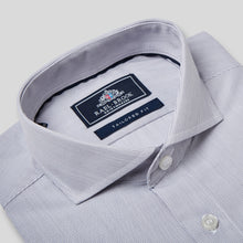 Load image into Gallery viewer, Rael Brook Tailored Fit Grey Pinstripe Single Cuff Shirt Collar