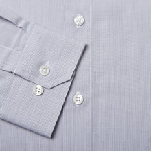 Load image into Gallery viewer, Rael Brook Tailored Fit Grey Pinstripe Single Cuff Shirt Cuff