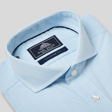 Load image into Gallery viewer, Tailored Fit Light Blue Pinstripe Single Cuff Shirt