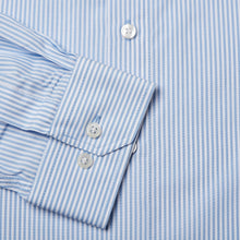 Load image into Gallery viewer, Tailored Fit Blue Candy Stripe Single Cuff Shirt