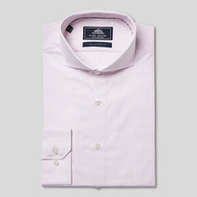Load image into Gallery viewer, Rael Brook Tailored Fit Pink Candy Stripe Single Cuff Shirt