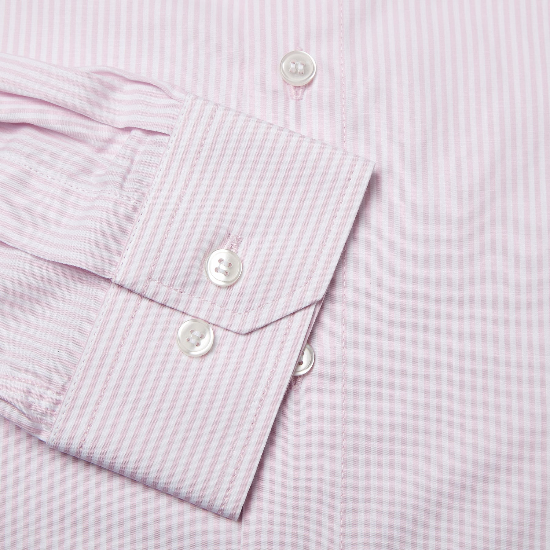 Rael Brook Tailored Fit Pink Candy Stripe Single Cuff Shirt Cuff