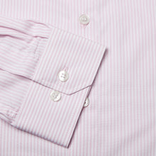 Load image into Gallery viewer, Rael Brook Tailored Fit Pink Candy Stripe Single Cuff Shirt Cuff
