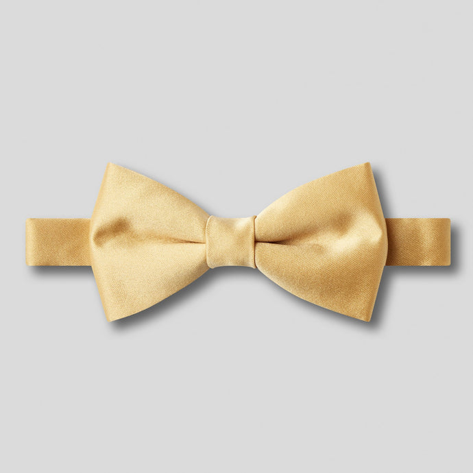 Folkespeare Boys Gold Plain Satin Bow Tie