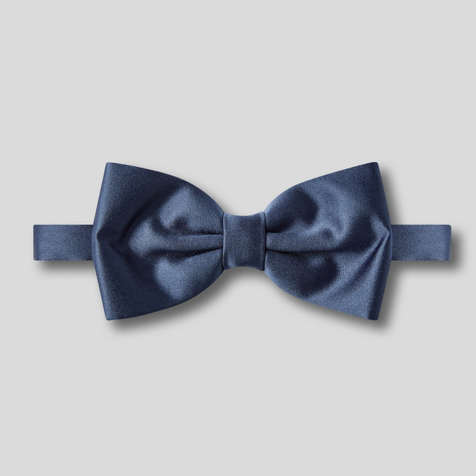 Folkespeare French Navy Plain Satin Classic Bow Tie