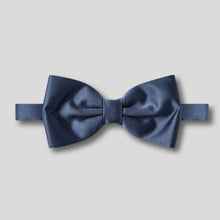 Load image into Gallery viewer, Folkespeare French Navy Satin Classic Bow Tie