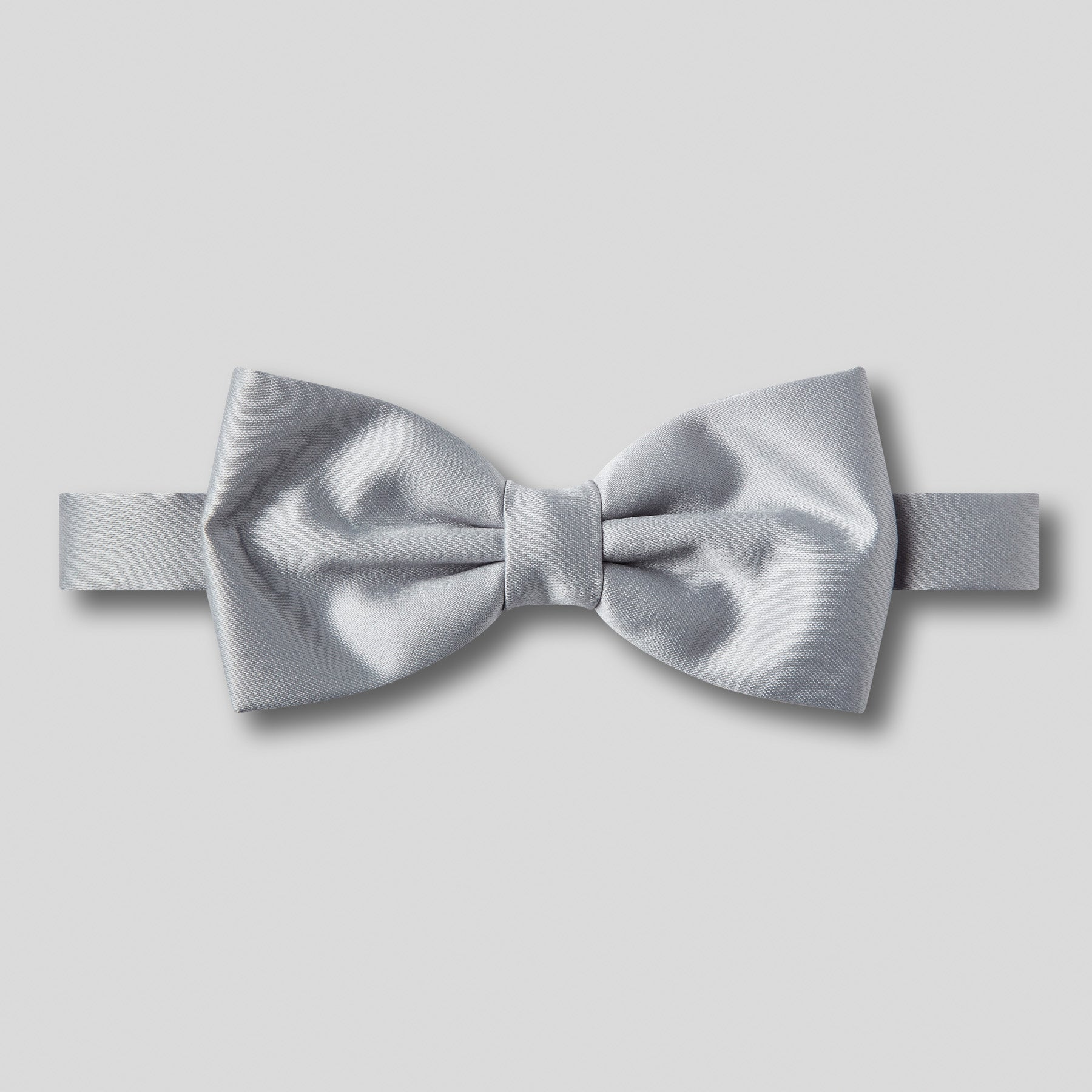 Folkespeare Silver Grey Satin Classic Bow Tie