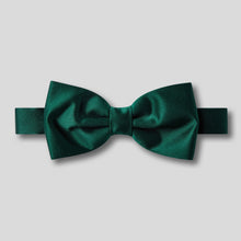 Load image into Gallery viewer, BK0030-09-Folkespeare-Bottle-Green-Plain-Satin-Classic-Bow-Tie-1