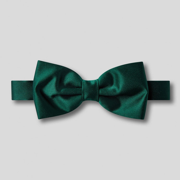 Folkespeare Bottle Green Plain Satin Classic Bow Tie