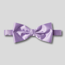 Load image into Gallery viewer, Folkespeare Lilac Plain Satin Classic Bow Tie